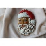 Santa face, painted