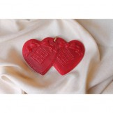 Red Quilted Double Heart