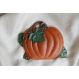 Painted Pumpkin with Vines